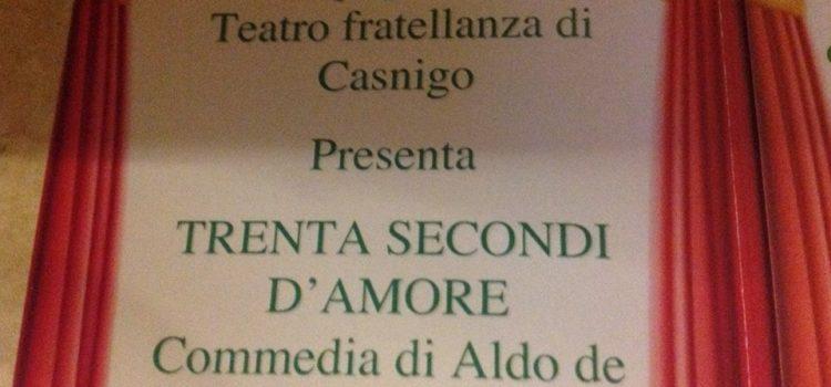 """TUTTI A TEATRO A GORNO: IN SCENA """"30 SECONDI D'AMORE"""""""