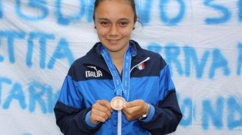 Anna con la medaglia di bronzo valseriananews