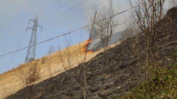 incendio Ponte Nossa 7 aprile