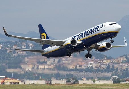 Ryanair annuncia 300 nuove rotte in coincidenza sull'aeroporto di Bergamo