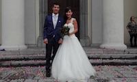 VALSERIANA NEWS IN FESTA, FIORI D'ARANCIO PER IL DIRETTORE GESSICA COSTANZO E IL MARITO FABIO MERELLI