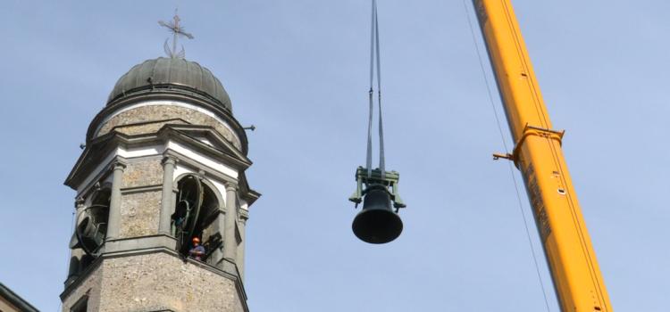 A Leffe il campanile torna agli antichi splendori. Iniziati i lavori di restauro