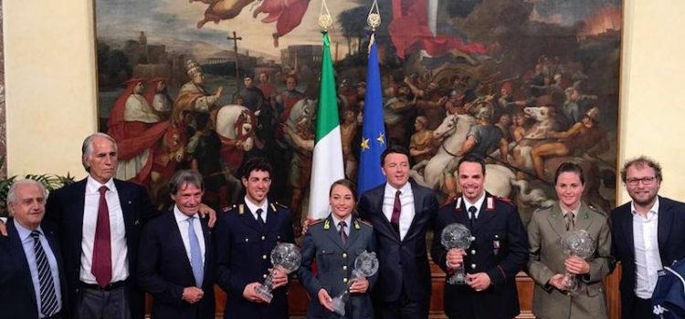 Michela Moioli da Renzi con la Coppa del Mondo