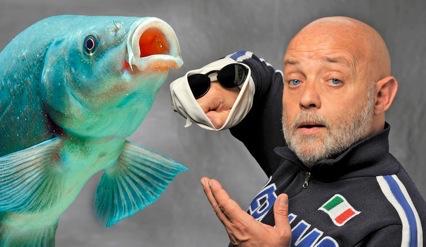 Il comico Ghislandi fa parlare i pesci