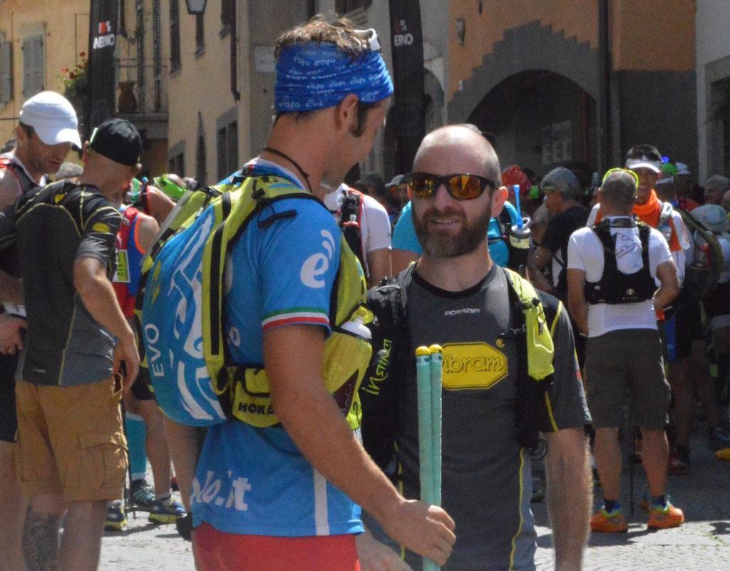 Marco Zanchi alla partenza a Clusone