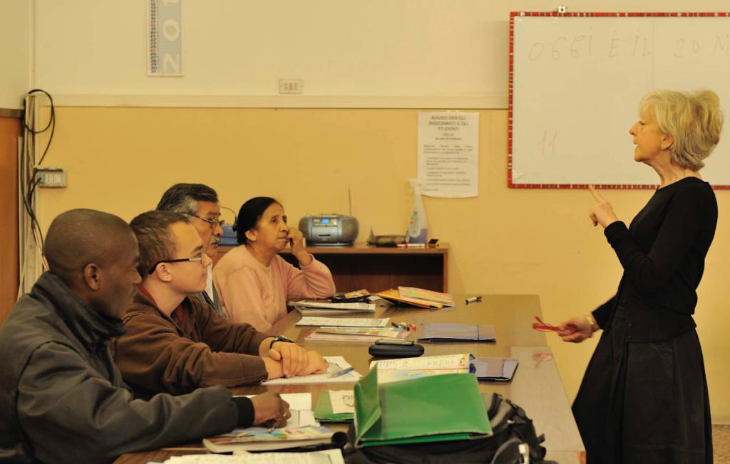 Le lezioni di italiano svolte dalla Cooperativa