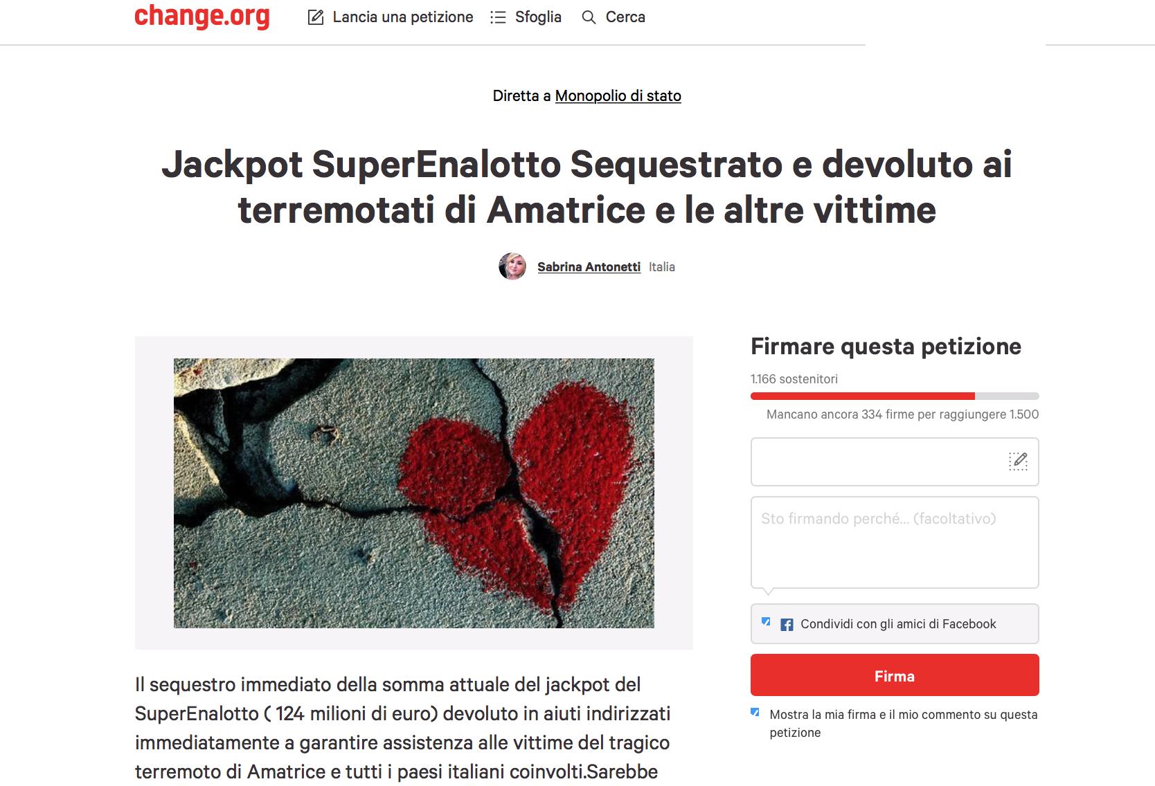 petizioneonline-terremoto