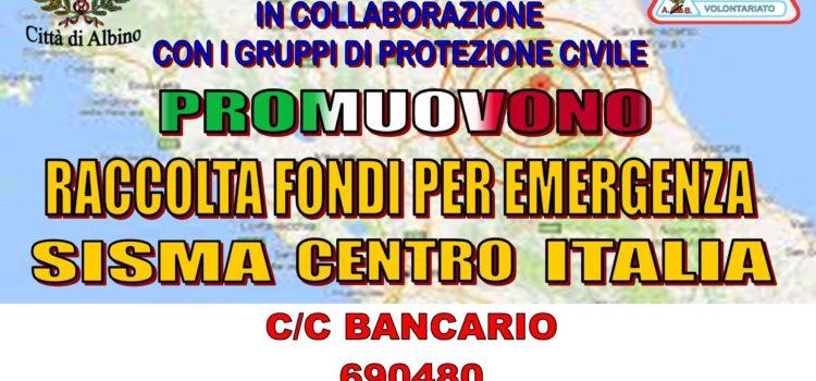 Attivata raccolta fondi in media Val Seriana per l'emergenza terremoto del Centro Italia