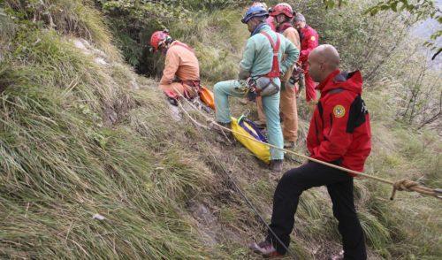 Speleologi del Soccorso Alpino di tutta Italia in esercitazione sull'Arera