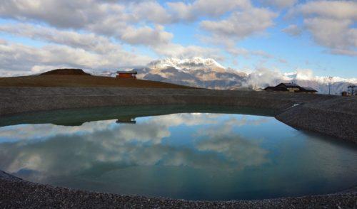 Monta Pora, festa in quota per l'inaugurazione del nuovo bacino