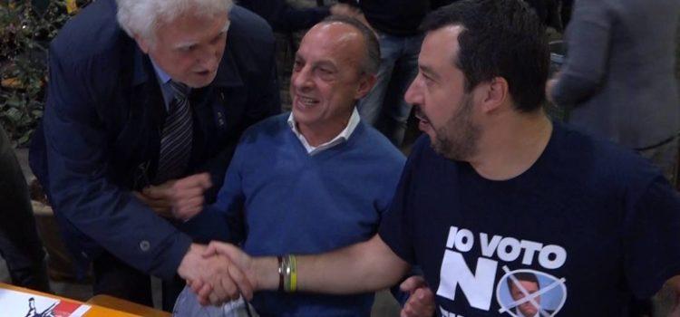 """Salvini sta con il sindaco di Cene: """"I migranti vanno riportati a casa loro"""" – video"""