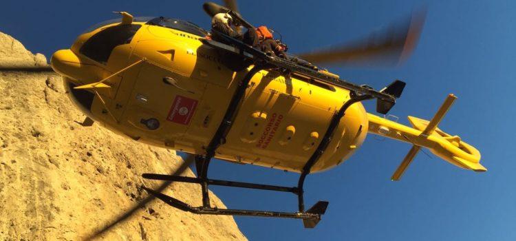22enne precipita sul Monte Secco, ricoverato in gravi condizioni