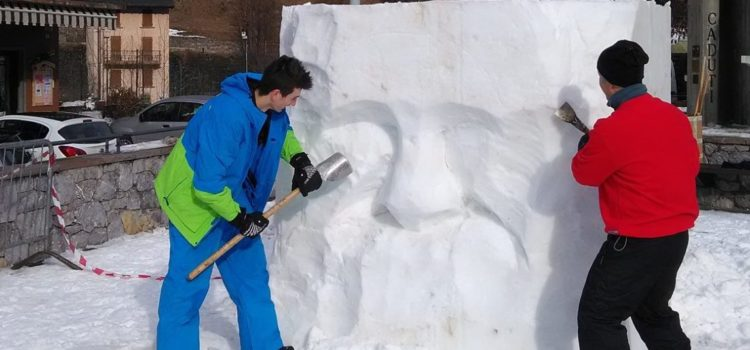 Dalla Toscana e Belluno a Valbondione per scolpire il ghiaccio