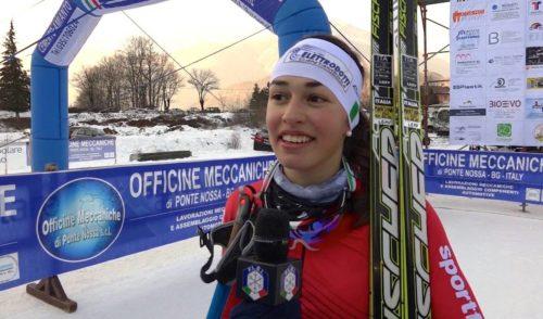 Ancora una medaglia per Martina Bellini, è argento ai Campionati Italiani al Passo Cereda