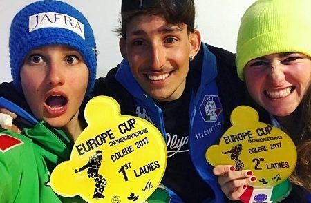 Coppa Europa snowbord cross a Colere, Sofia Belingheri sul primo gradino del podio