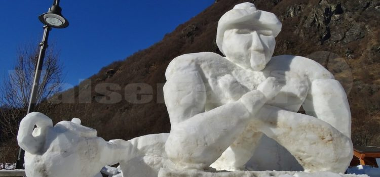 Valbondione, nel weekend la sfida con le sculture di neve