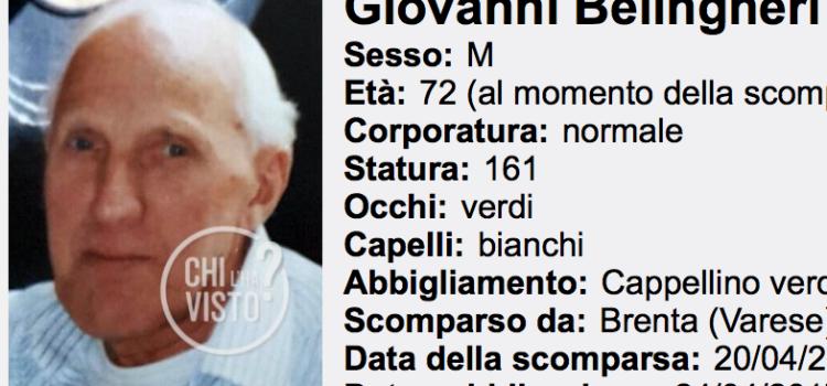 """A """"Chi l'ha visto"""" l'appello per Giovanni Belingheri di Colere"""
