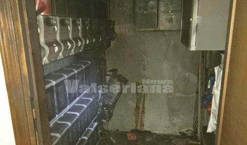 Contatori elettrici in fiamme a Gazzaniga, sul posto i Vigili del Fuoco