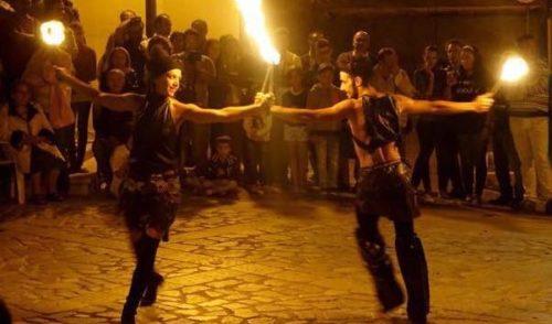 San Giorgio, a Valbondione uno spettacolo di fuoco