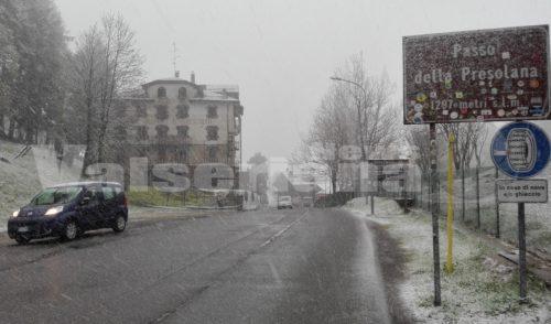 Neve in arrivo su tutta la Val Seriana, accumuli fino a 30 cm