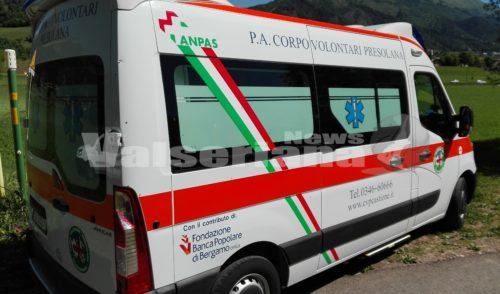 Incidente stradale a Castione della Presolana