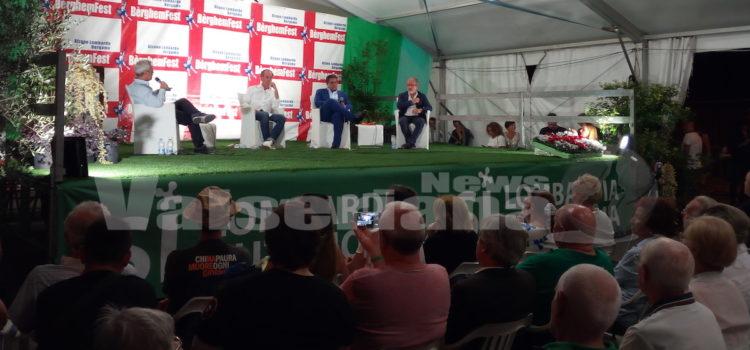 Zaia, Maroni e Toti alla Bèrghem Fest: uniti e non su immigrazione e elezioni – video