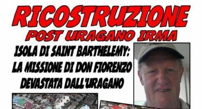 Un aiuto alla missione di don Fiorenzo Rossi dopo la distruzione dell'uragano Irma