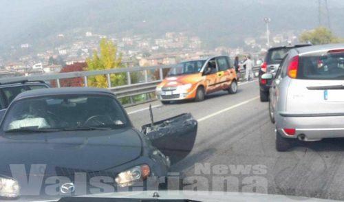 Incidente sulla superstrada a Nembro, nessun ferito grave