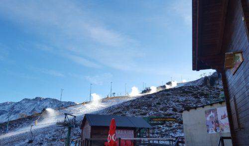 Freddo in quota, a Lizzola si preparano le piste per la stagione invernale