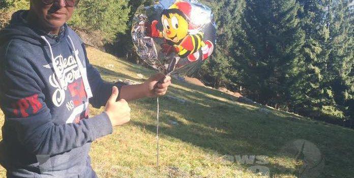 Dall'Austria a Valcanale, palloncino con messaggio in meno di 2 giorni – foto