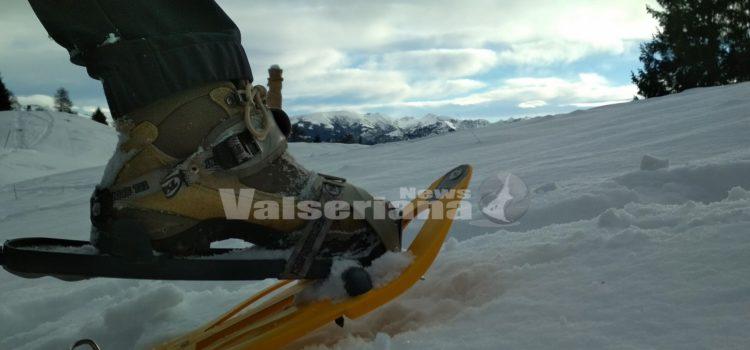 Con le ciaspole e gli sci d'alpinismo nel bosco incantato, a cavallo fra la Val Seriana e la Val di Scalve