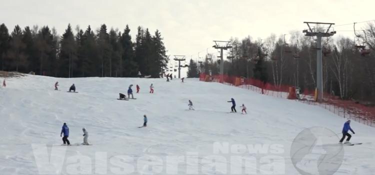 Selvino, si scia sul Monte Purito – video