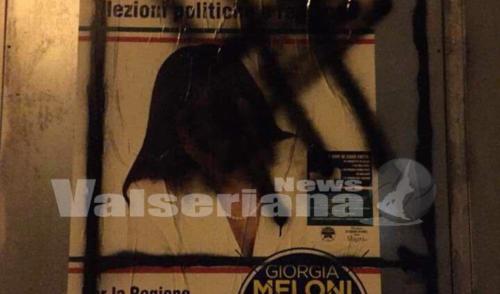 Atti vandalici in Val Seriana, imbrattati e strappati i manifesti elettorali