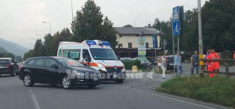 Incidente auto moto sulla Strada Provinciale alle Fiorine di Clusone