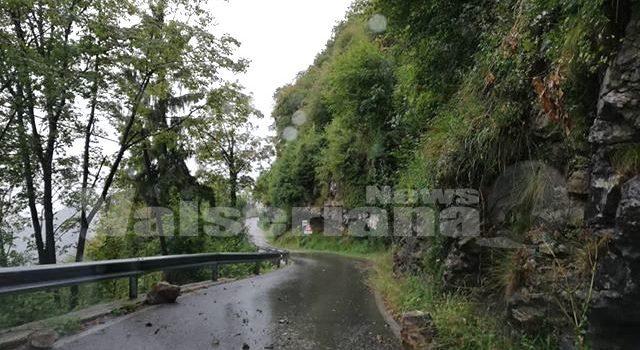 Strada Orezzo – Ganda chiusa per rischio smottamenti