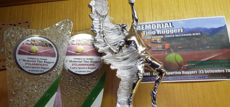Trofeo di tennis Valseriana News, domenica 23 settembre a Clusone il Memorial Tino Ruggeri