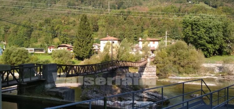 """Villa d'Ogna, chiuso il ponte """"che balla"""""""