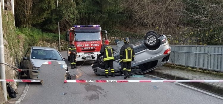 Incidente a Vall'Alta di Albino, due feriti