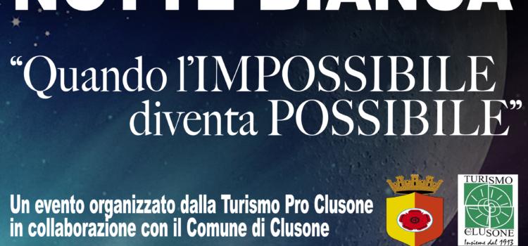 """Clusone sabato 8 dicembre """"La magia della Notte Bianca"""": quando l'impossibile diventa possibile"""