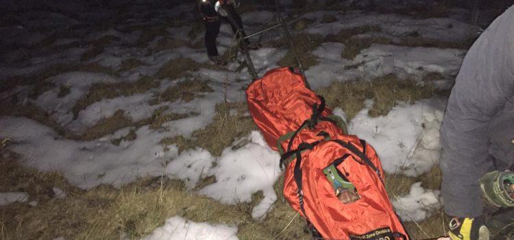 Gromo: escursionista scivola sul Timogno, recuperato dal Soccorso Alpino