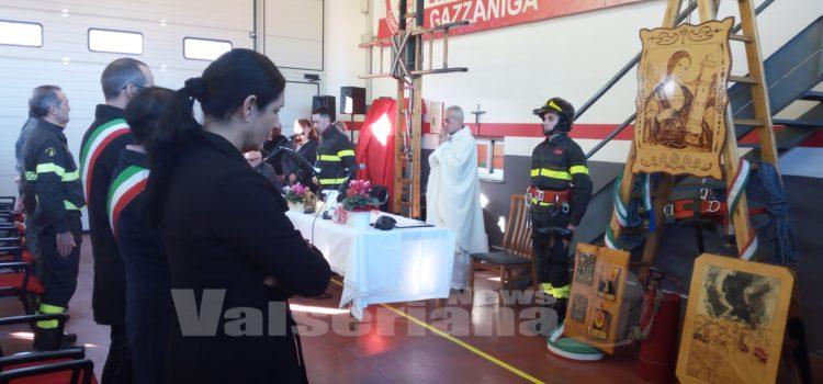 Gazzaniga, festa per Santa Barbara con i vigili del fuoco – foto