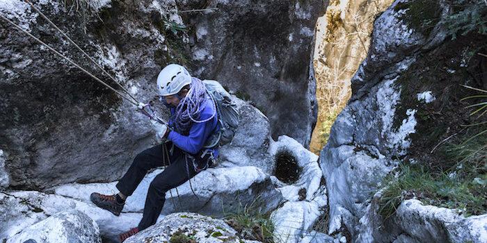 Dry Canyoning, in Val Borlezza il nuovo sport ad alto tasso adrenalinico