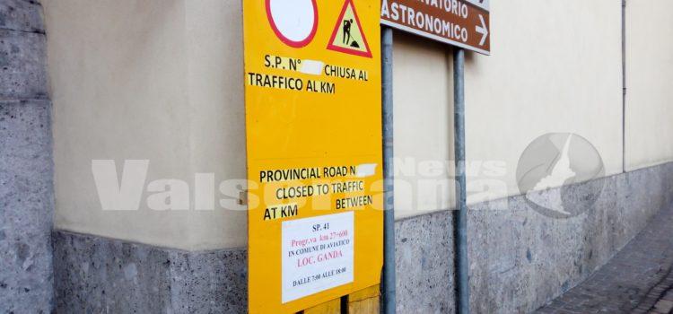 Gazzaniga – Aviatico, strada chiusa fino ad aprile