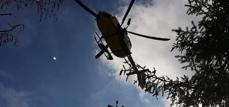 Caduta al Monte Pora, soccorso un 89enne