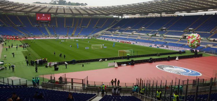Atalanta – Lazio: i tifosi prendono posto allo Stadio Olimpico