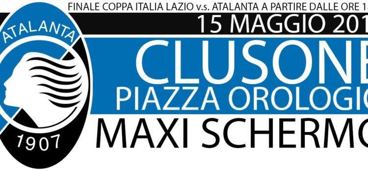 Atalanta: maxi schermo a Clusone aspettando la finale di Coppa Italia