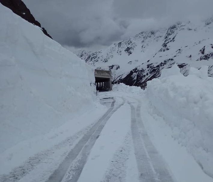 Neve sul Gavia, grande lavoro: