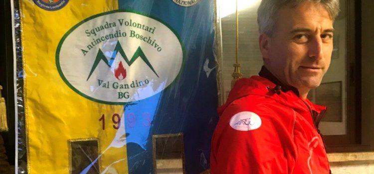 Volontari Antincendio Val Gandino, nuovi giubbotti grazie ai cacciatori