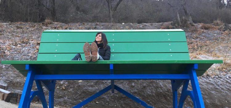 A Parre la prima panchina gigante della Val Seriana
