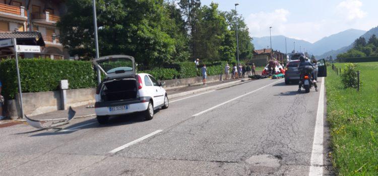 Incidente auto-moto sulla provinciale per Castione